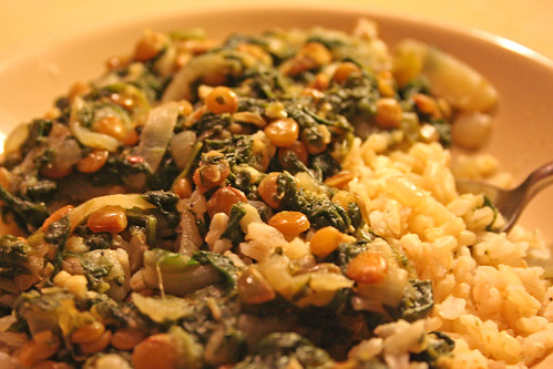 Lentils & Spinach