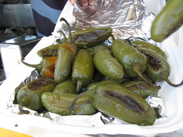 Taqueria Little Mexico grilled up some peppers for tour-goers