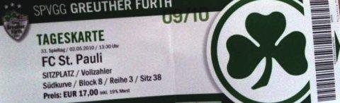 Fuerth - FC St. Pauli - Aufstiegsspiel