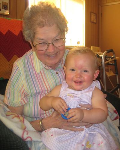 Grandma with Ocean - July 2008