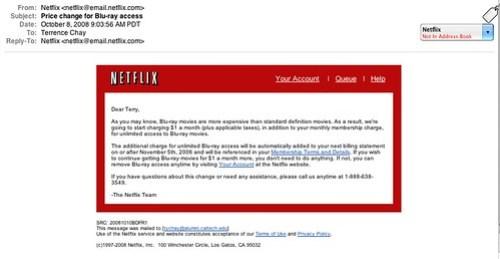 Netflix raises rates for me