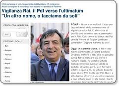 """Vigilanza Rai, il Pdl verso l'ultimatum """"Un altro nome, o facciamo da soli"""" - Politica - Repubblica.it"""