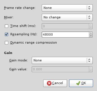 Konfigurasi filter audio