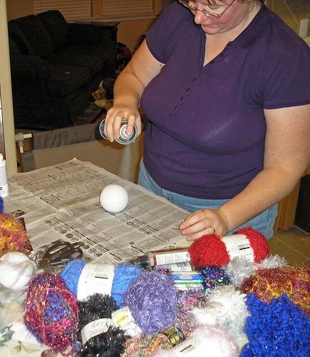 Yarn ornaments (4)