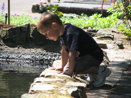 Jacob at the Fish Hatchery