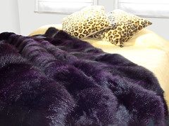 Purple Possum Fur Throw