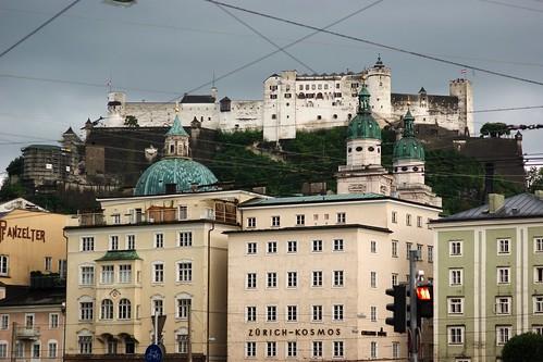 Fortaleza de Hohensalzburg desde el Salzsach