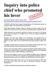Inquiry into police chief who promoted his lover - the Scotsman