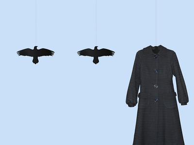 the raven coat hanger was designed by graphic designer ingibjorg hanna from iceland