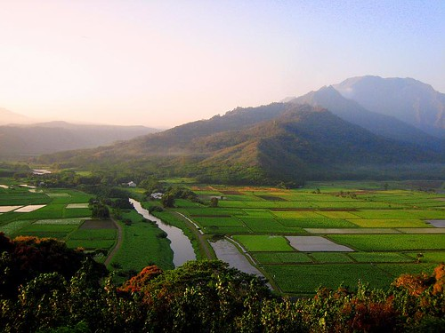 hanalei valley around sunrise