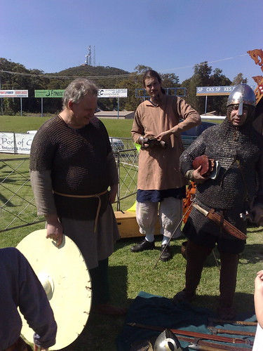 Huscarls preparing for battle