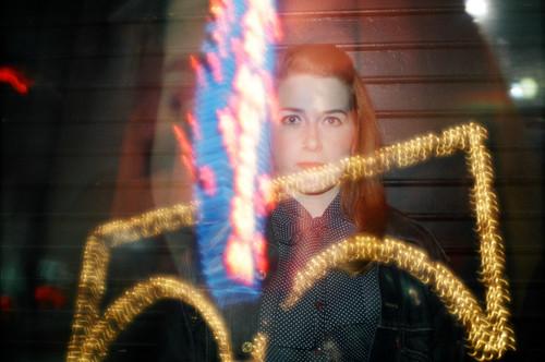 triple exposure portrait