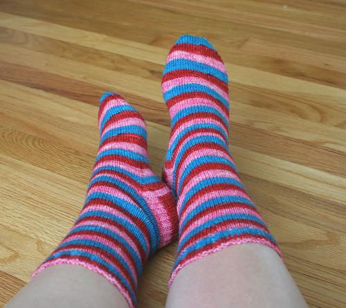 Love Stinks Vesper Socks done 6.23.2008