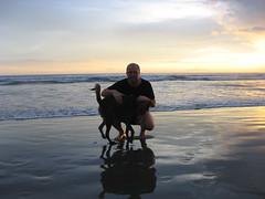 Sven og Oso på Playa el Coco