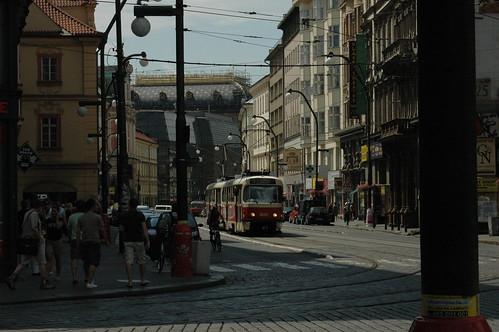Una vista del centro de Praga