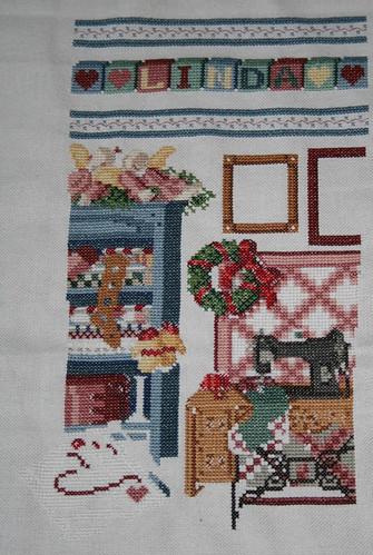 Stitchers Stocking WIP