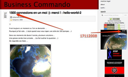 1500 Connexions en un moi :): Merci ! : hello-world-2 | Business Commando by you.