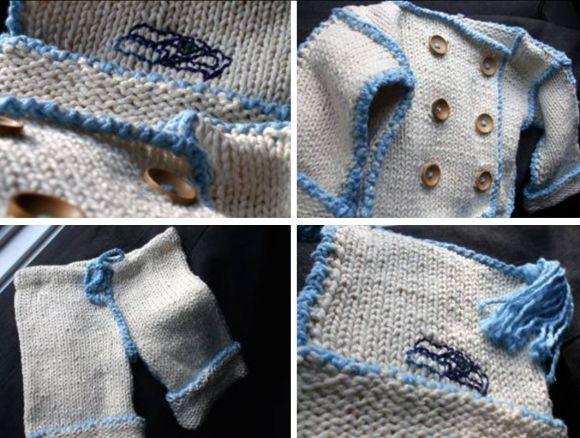 baby knits mum