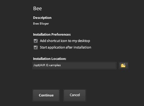 Instalasi Bee - Lokasi Instalasi dan Opsi Lain