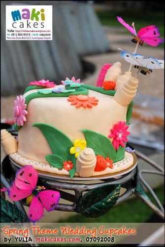 Spring Wedding Cupcakes - Maki Cakes