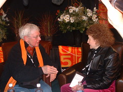Film critic Roger Ebert and Hazel Dickens in P...