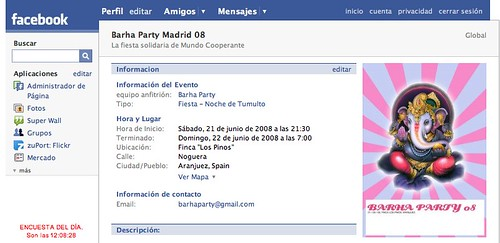 Barha Party en Facebook