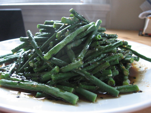 Long beans in ginger sauce