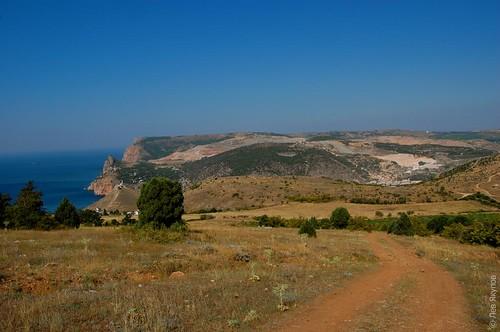 Дорога от Балаклавы на гору Аскети