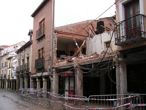 Derrumbe en la calle Mayor