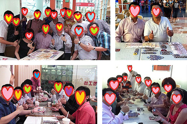 Pictures of Baccarat Institute's students showing off their alleged winnings (pictures via Baccart Institute's website)