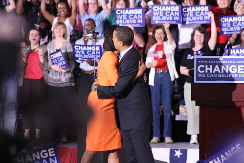 Barack and Michelle Obama in Raleigh, NC