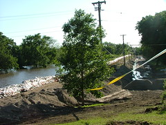 Flood waters at Union Park