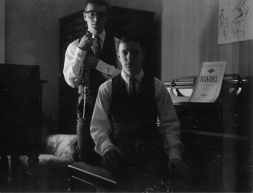 Chick and Ernie when they became musicians.jpg