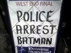 Police Arrest Batman
