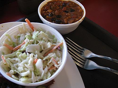 coleslaw & beans