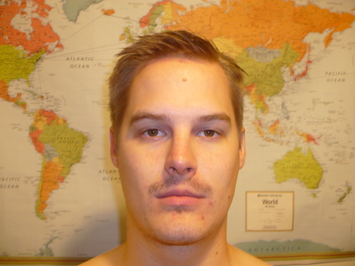 Right before shaving my 'stache for the last time this month!