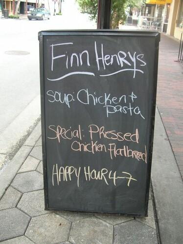 Finn Henry's outdoor sign