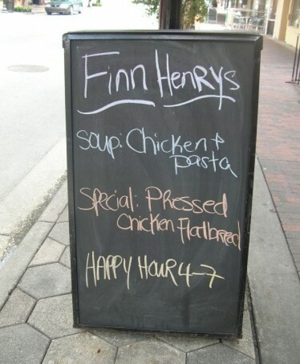 Finn Henry's outdoor sign