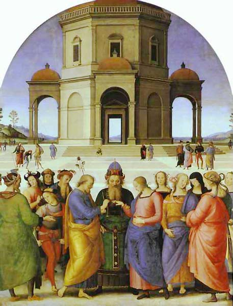 The Marriage of the Virgin by Pietro di Cristoforo Vannucci (1445?-1523), called Perugino