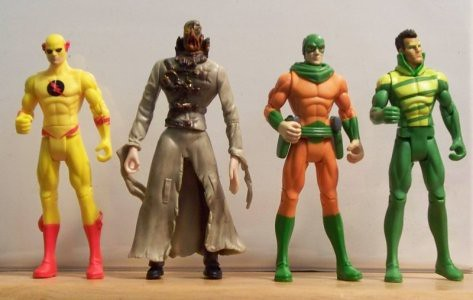 Professor Zoom (the Reverse Flash), the Scarecrow, Mirror Master and Weather Wizard