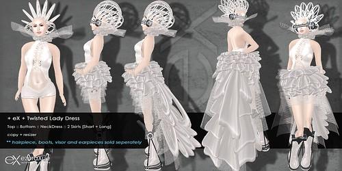 + eX + Twilight Lady Dress *White