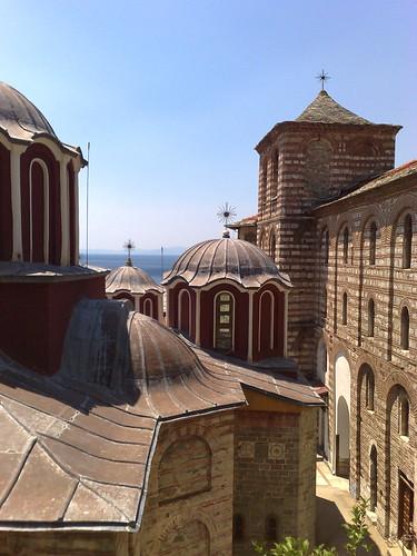 Grigoriou Monastery - Katholikon and Bell Tower