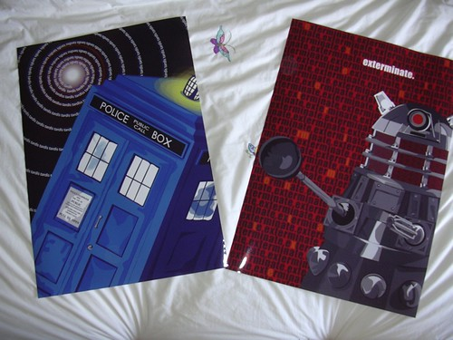 Dalek and Tardis posters!
