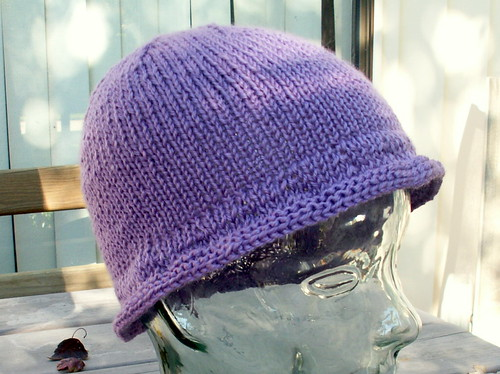* I like the floppy brim on this chemo cap!  :)