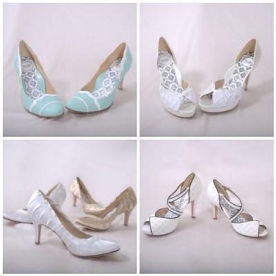 bridal shoes_bridesmaid shoes_wedding shoes_white ivory bridal wedding shoes_high heel wedding shoes