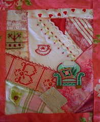 Mini Shabby 8.5 by 10 Crazy Quilt