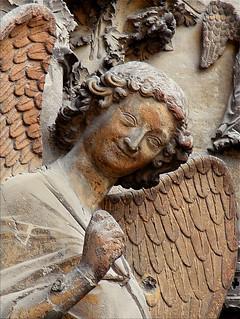 Smiling Angel, Notre-Dame de Reims, France, c.1250