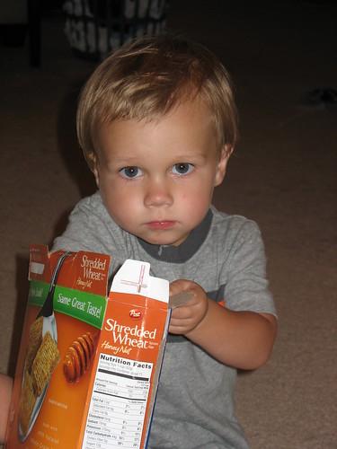Lovin' the cereal.