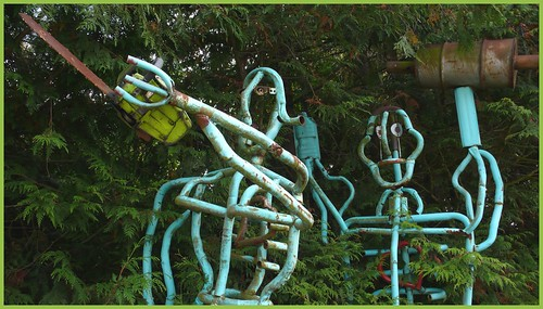 Roadside art attraction, Old Olympic Hwy., Sequim, Washington.