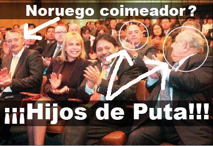 """León y Quimper, apristas corruptos como todo el régimen de Alan """"rata"""" Garcia."""